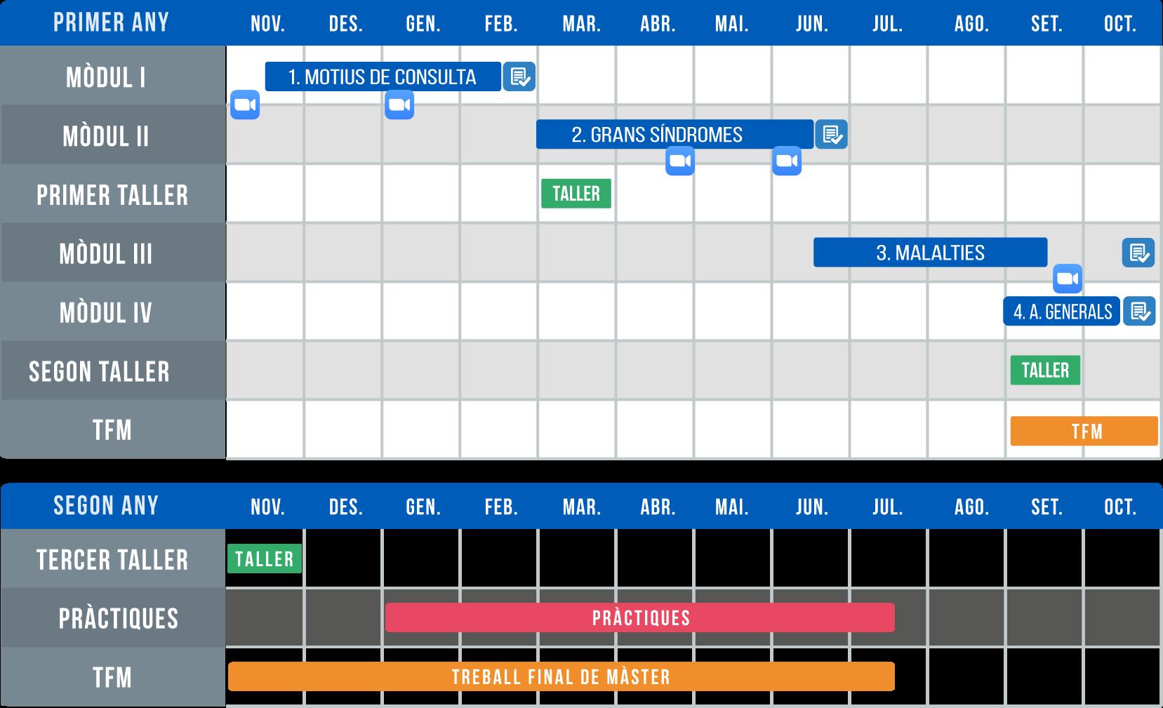 Cronograma màster urgències